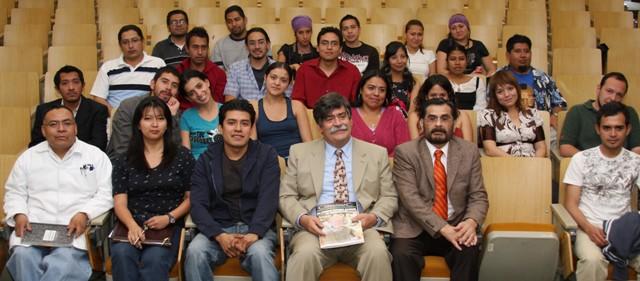 Dr. Oscar Monroy, Rector de la UAM-Iztapalapa y Ganadores del los Proyectos de la UAM-I 2009