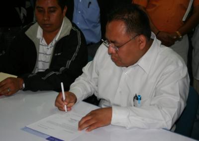 Registro de Aristeo Segura para contender a la Dirección de la Facultad de Ciencias Químicas. Octubre 19, 2009.
