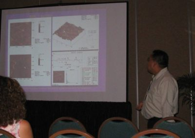 "XIII INTERNATIONAL MATERIALS RESEARCH CONGRESS Presentacion del trabajo ""Visualization of colesterol Moléculas at the Au (111) substrate in Free and Aggregated Forms by STM and AFM"",Cancún Quintana Roo, México, 22-26 August 2004"