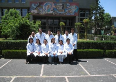 Compañeros del laboratorio de Nanotecnologia e Ingeniería Molecular de la UAM- Iztapalapa