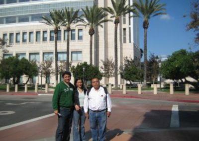 Bayardo Murillo,Cristina Acosta,Aristeo Segura,Santa Ana California, USA., Septiembre del 2009